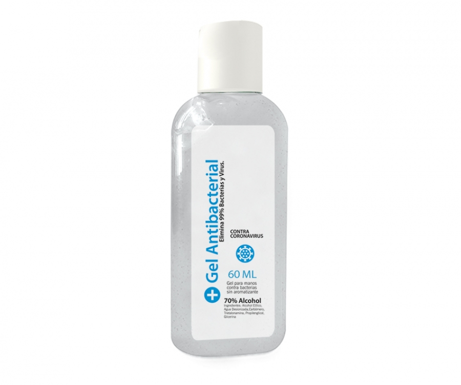 Gel Antibacterial de 60 ml.
